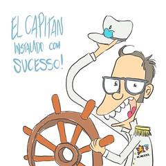 ELCAPITAN (Saulo Cruz) Tags: nerd macintosh mac osx cartoon almirante freak draw elcapitan desenho manche marinha navio macstore marinheiro saulocruz