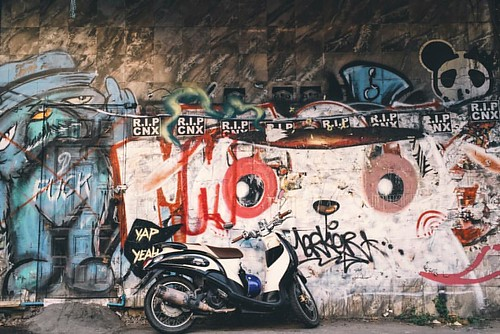 #graffiti #chiangmai #thailand #vscocam #snapseed #iphone6plus #motorcycle
