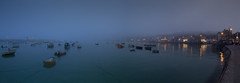 St Ives (yadrad) Tags: mist southwest west misty twilight cornwall harbour pano country stives