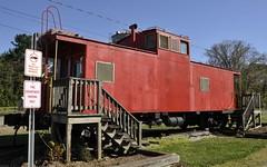 Ruffin, North Carolina (1 of 3) (Bob McGilvray Jr.) Tags: railroad red train nc nw steel tracks northcarolina caboose cupola norfolkwestern ruffin