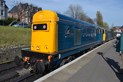 Class 20 - 20142 & 20205 (Will Swain) Tags: uk travel england west english station train during town diesel britain south transport may rail railway trains class southern vehicles dorset vehicle 20 railways 7th gala isle swanage purbeck 2016 20205 20142