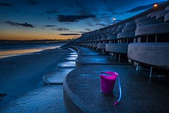 Beside the seaside, beside the sea... (Tim_Horsfall) Tags: sunset urban beach st canon concrete eos is seaside sand harbour dusk shore jersey usm 6d helier f4l ef1635mm