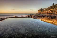 What lies beneath (JustAddVignette) Tags: australia dawn deewhy early headland landscapes longexposure newsouthwales northernbeaches ocean rockpool rocks seascape seawater sky sun sunrise sydney water waves