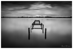 The Darkening Stillness (D.k.o.w) Tags: longexposure blackandwhite water mono jetty smooth northernireland loughneagh discoverycentre silkysmooth bigstopper canon7dmkii 7dmark2