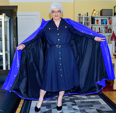 Ingrid022235 (ingrid_bach61) Tags: shiny dress skirt mature button cape through pvc pleated kleid glnzend faltenrock durchgeknpft