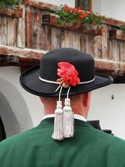 The man of the band (magellano) Tags: musician flower hat banda costume traditional band fiore rosso mals cappello sdtirol musicista altoadige geranio venosta tradizionale burgusio burgeis malles