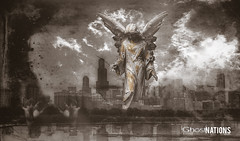 City Of Fallen Angels II (Ghost Of Nations Photography And Digital Art) Tags: ghostofnationsphotography ghostofnations gloomy blackandwhite bw angel artistic chicago lakemichigan dark darkness hand hands liminal disquiet disturbing eerie