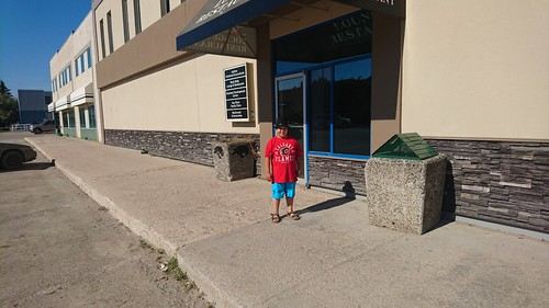 Dominic in downtown Hay River