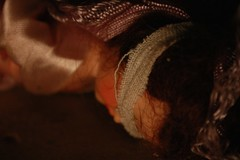 No One Would Hear Her Screams (Brynn Thorssen) Tags: woman halloween doll dolls attack basement assault horror terror sexual tied dim tiedup bound