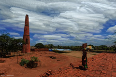 Persistence of Time (Neha & Chittaranjan Desai) Tags: brick clouds photography landscapes skies factory time worker cloudscapes persistence