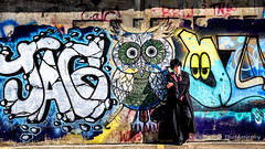 Harry Potter, A Long Way from Hogwarts (Paul Cory) Tags: lighting camera city morning summer portrait people urban woman wall season lens graffiti costume unitedstates availablelight harrypotter northcarolina naturallight structure highpoint cosplayer onlocation sciencefictionconvention geolocation postprocessing congregate fujicamera timeofday niksoftware geocity exif:make=fujifilm cheralynlambeth camera:make=fujifilm fujilens geocountry geostate exif:aperture=56 harrypotteruniverse colorefexpro4 fujifilmxt1 exif:isospeed=200 camera:model=xt1 exif:model=xt1 exif:focallength=61mm fujifilmxf50140mmf28rlmoiswr fromcamerajpeg exif:lens=xf50140mmf28rlmoiswr congregate2015