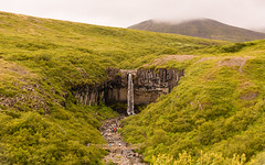 Svartifoss (Lou Rouge) Tags: naturaleza verde fall nature fog landscape waterfall iceland islandia nationalpark paisaje volcanic cascada svartifoss basalto basaltonegro