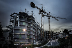 chantier  forest (Patrice Dx) Tags: forest construction nocturne chantier urbanisation grues