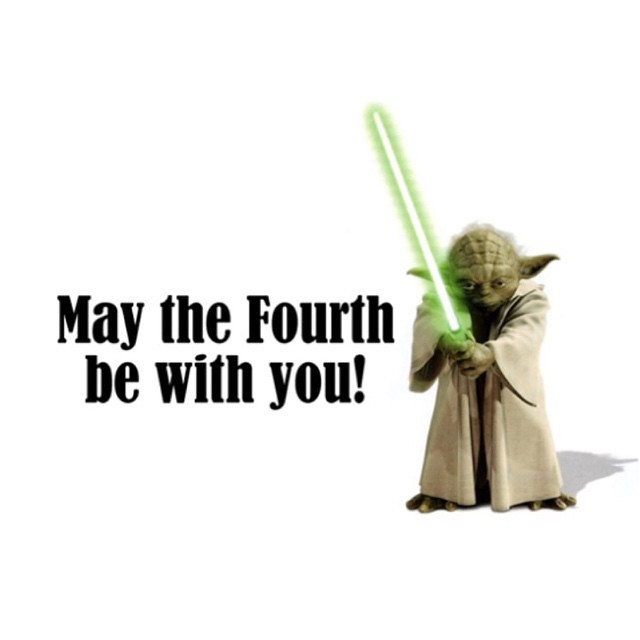 May the 4th be with you!  #maythe4thbewithyou