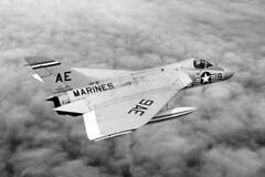 VMF-115 F4D-1 Skyray BuNo 134804, AE-9 (skyhawkpc) Tags: usmc airplane inflight aircraft aviation navy 1957 marines douglas naval usnavy usn usmarines skyray ae9 134804 f4d1 145072 vmf115