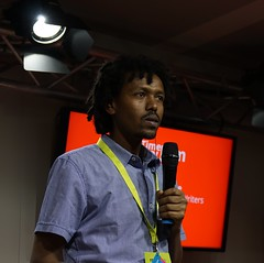 Mutige Geschichten, hier Journalist Girma T. Fantaye über mutige Autoren aus Äthiopien, die bei uns keiner kennt.