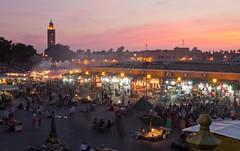 Sunset at Jemaa el Fna - Marrakesh (JoeyHelms Photography •2.5MViews&10kFollowers•) Tags: africa people night place market outdoor el morocco marrakech marrakesh arabian crowds lightroom fna jemaa joeyhelms joeyhelmsphotography