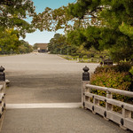 The majestic avenue leading to the Imperial palace in Kyoto, Japan thumbnail