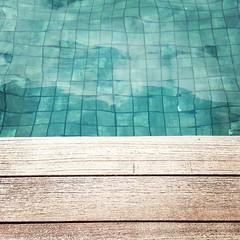 Water/Wood (mayrpamintuan) Tags: wood city travel blue vacation holiday water pool swimming swim square asian hotel singapore asia southeastasia phone resort swimmingpool tiles hotels resorts iphone marinabay phonephotography 2013 marinabaysands iphone5 iphonephotography instagram