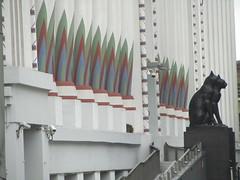 UK - London - Camden - Mornington Crescent - Former Carreras Cigarette Factory (JulesFoto) Tags: uk england london architecture camden artdeco morningtoncrescent blackcats carrerascigarettefactory