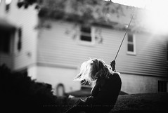 This is the life... (privizzinis passion photography) Tags: lighting light people blackandwhite tree girl monochrome leaves sunshine childhood children fun child play branches joy swing adventure treeswing freelensed