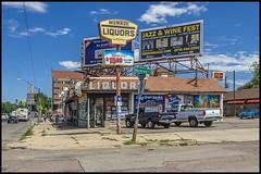 Monroe liquors, Denver (philippe*) Tags: urban colorado denver liquorshop