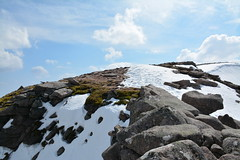 Near the top of the Fiacaill ridge (nic0704) Tags: mountain walking t landscape scotland highlands outdoor hiking hill peak an ridge climbing summit mountainside cairn gorm scramble cairngorm cairngorms foothill lochan coire sneachda fiacaill