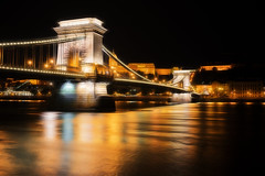 The Szchenyi Chain Bridge (Szchenyi lnchd), Budapest (Sterling750) Tags: night photoshop river colours shot vibrant sony budapest cc filter tone danube hdr mapped a7r fractalius