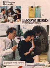 Benson & Hedges 1988 (moogirl2) Tags: 1988 yuppies spymagazine 80sads vintageads bensonhedges yuppielifestyle cigaretteads 80sculture