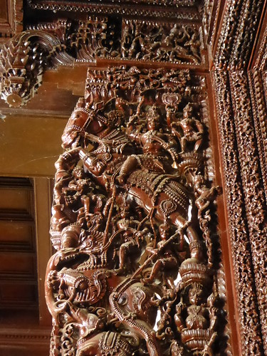 Carving, Chettinad Mansion, Kanadukathan