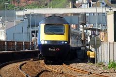 Restarting From Dawlish (crashcalloway) Tags: train devon railways firstgreatwestern hst gwr dawlish dawlishstation greatwesternrailway highspeedtrain intercity125 fgw