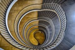 Yin and Yang (sarah_presh) Tags: building architecture stairs germany munich spiral bavaria oberbayern von yang staircase round government yin regierung hdr yinandyang bavarian lightanddark nikond750