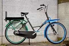 WorkCycles-Fr8-blue-green (@WorkCycles) Tags: dutch bike bicycle custom fiets fr8 transportfiets workcycles achterop
