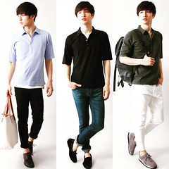 May 10, 2016 at 08:04PM (audience_jp) Tags: fashion japan tokyo audience style  poloshirt polo madeinjapan kouenji   sputnicks ootd