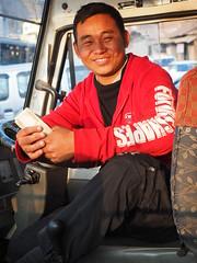 Kohima - Smiling driver (sharko333) Tags: voyage street travel man asia asien transport olympus driver asie indien reise kohima nagaland em1