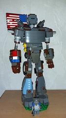 Liberty Prime (Brickule) Tags: liberty prime robot lego steel armor laser bomb brotherhood nuke fallout apoc robco