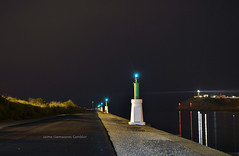 28/V/2016. San Xuan. (Camineru) Tags: sea night port puerto noche mar canal san juan mark asturias xuan aviles signal channel lightouse marcas acceso asturies ría desembocadura costado nieva iala