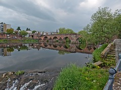 The Devorgilla bridge crossing the River Nith at the White Sands in Dumfries (penlea1954) Tags: new old uk bridge lady standing john river scotland king bridges oldest balliol dumfries galloway nith caul devorgilla