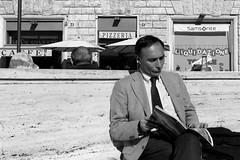 San Silvestro square (@ntomarto) Tags: street urban blackandwhite bw italy rome roma strada italia reader biancoenero lettore antomarto ntomarto