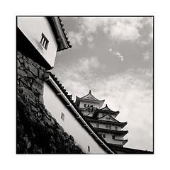 walls  himeji, kansai  2015 (lem's) Tags: castle japan rolleiflex himeji walls chateau kansai japon murs planar