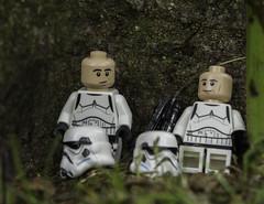 Resting on Patrol (LegoLee) Tags: starwars stormtroopers helmet bradbury blaster endor ewoks