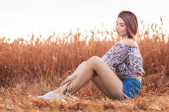 Pavlina (PeterPetroff) Tags: woman girl beautiful beauty field outside outdoors amazing pretty sitting natural gorgeous posing stunning hay