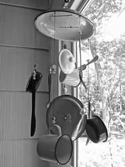 windchimes (muffett68 ) Tags: kitchen silverware cups windchimes pans ansh scavenger20 amodernstilllife