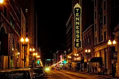 Tennessee Theater (John C. House) Tags: city night lowlight nikon knoxville streetlights nik hdr everydaymiracles d700 johnchouse aurorahdr tennesseegaystreet tenesseetheater