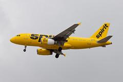 Spirit Airlines Airbus A319 N502NK (jbp274) Tags: airport cloudy spirit airplanes airbus lax nk a319 spiritairlines klax