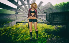 Dreaming (Trixie Pinelli) Tags: love sunshine fashion buzz countryside truth mesh dream dreaming sl secondlife re cowgirl awake homesweethome uber reign erratic virtualphotography maitreya meshhead secondlifefashion meshbody lelutka realevil shinyshabby