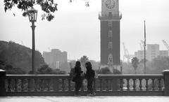 (Analgica) Torre de los Ingleses, Retiro (guspaulino1) Tags: plaza argentina puerto buenosaires torre ciudad reloj farol amigas balcon retiro plazasanmartn torredelosingleses ilfordpan400 minoltaxg9
