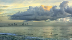 Change in the weather (BAN - photography) Tags: city storm surfers hirise inclementweather seaocean d810