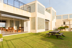 Roof top garden with stunning views of Colombo (T and V Boutique Apartments) Tags: vacation court hospital apartment budget central rental sri lanka national ceylon accommodation spa colombo groups fully hedges serviced hayleys odel asiri