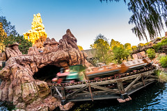 Big Thunder (Tyler Bliss) Tags: world california park ca railroad sunset vacation holiday west rock club train mouse wooden big movement nikon warm ride angle dusk disneyland wide fast tunnel disney canyon mickey tony diamond tyler celebration explore western roller baxter wilderness runaway anaheim bliss walt society coaster thunder fastest 60th sixty attraction frontierland adventurers sunseyt tylerbliss